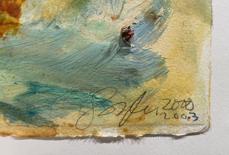 Joan Snyder, 'Sunflowers', 2000-2003, Drawing, Collage or other Work on Paper, Oil, acrylic and herbs on handmade paper, Artsy x Rago/Wright
