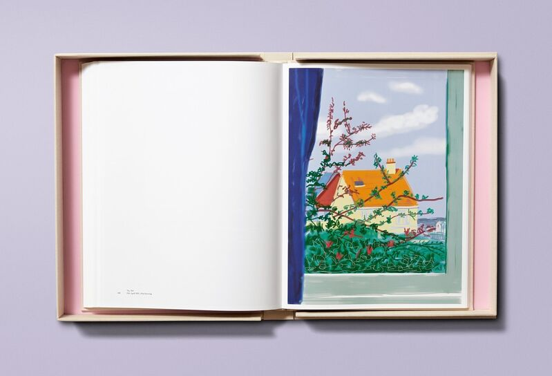 David Hockney, 'My Window', 2019, Books and Portfolios, Deluxe hardcover artist's book, Reproducing 120 of the artist's iPhone and iPad drawings, RAW Editions