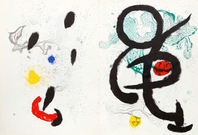 Joan Miró, 'Composition I & II from Derrière le Miroir ', 1965, Print, Lithograph, RoGallery