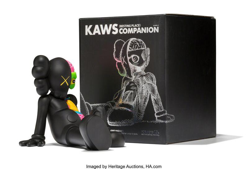 KAWS, 'Resting Place Companion (Black)', 2013, Sculpture, Painted cast vinyl, Heritage Auctions