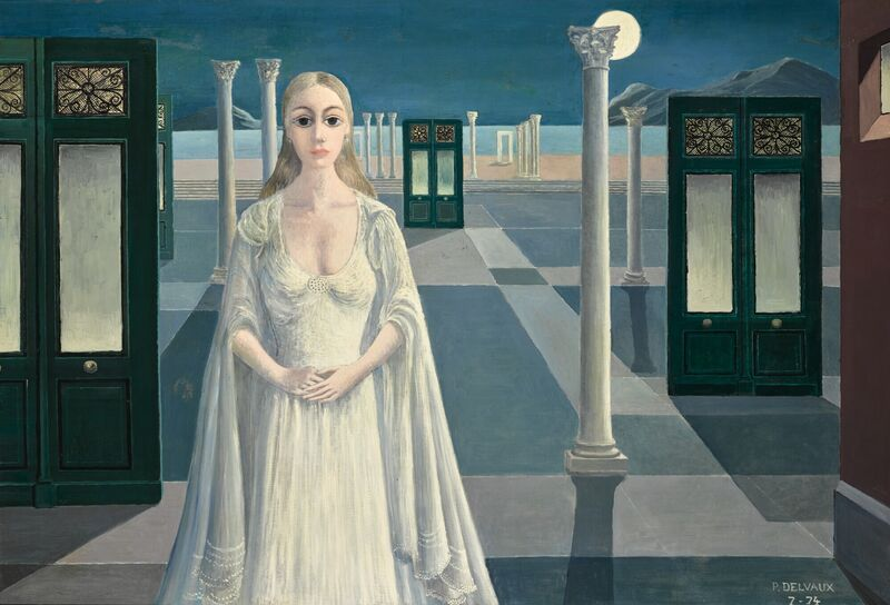 Paul Delvaux, 'L'imperatrice ', 1974, Painting, Oil on panel, Opera Gallery