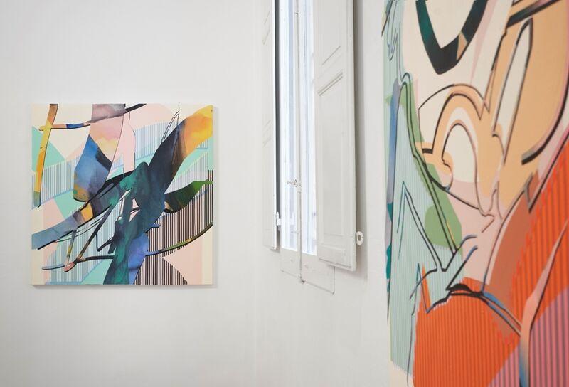 Kathryn MacNaughton, 'Interlaced Threads', 2021, Painting, Acrylic on canvas, MAGMA gallery