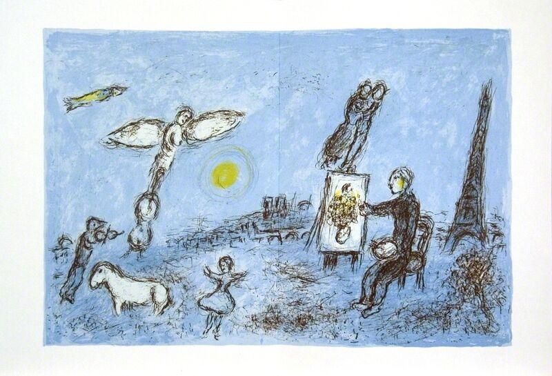 Marc Chagall, 'Le Peintre Et Son Double', 1981, Print, Lithograph, ArtWise