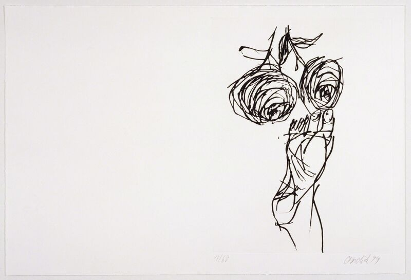 Georg Baselitz, 'Signs', 2000, Books and Portfolios, Intaglio folio of 10 images, a poem in 8 sections, title page and colophon, each page signed and numbered by the artist Folio: 19-5/8 x 29 inches open, 20-1/2 x 15 x 1 inches closed, Graphicstudio USF