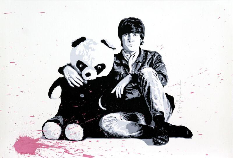 Mr. Brainwash, 'All You Need is Love (Lennon)', 2010, Mixed Media, Silkscreen with Acrylic Paint Splatters on paper, DANE FINE ART