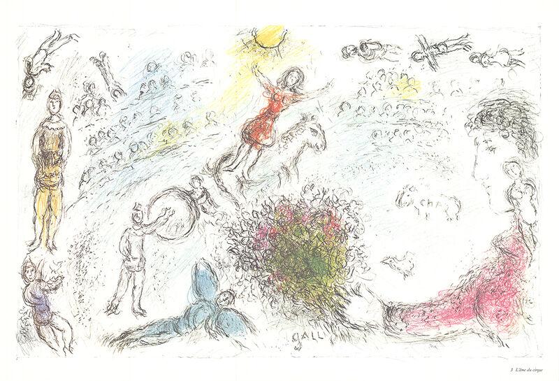 Marc Chagall, 'L'ame du Cirque', 1981, Ephemera or Merchandise, Offset Lithograph, ArtWise