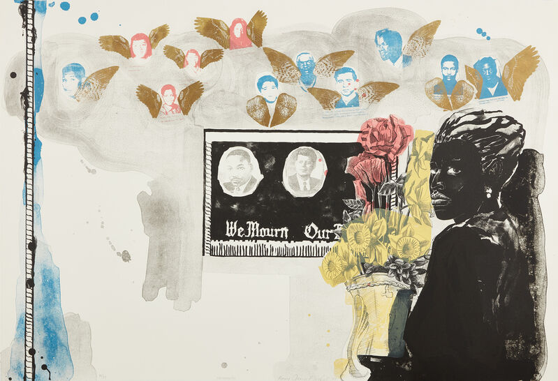 Kerry James Marshall, 'Memento (T. 96-367)', 1997, Print, Lithograph in colors, on Somerset paper, the full sheet., Phillips