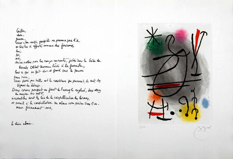 "Joan Miró, 'Caillou', 1978, Print, Original colour etching with aquatint on ""B.F.K. Rives "" paper., NCAG"