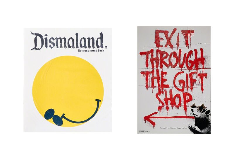 Banksy, 'Dismaland Bemusement Park program, 2015 and Exit Through the Gift Shop poster, 2010', 2015/2010, Other, Program and offset lithograph in colors, Rago/Wright