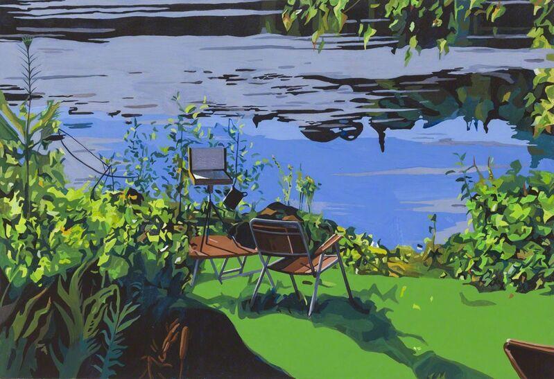 Michael Merrill, 'Lac Bouchette', 2013, Painting, Vinyl gouache on panel, Galerie Roger Bellemare et Christian Lambert