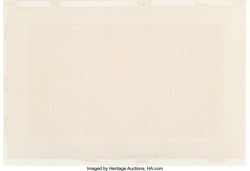 Joan Miró, 'L'invitee du dimanche, au fond noir II', 1969, Print, Etching in colors on Arches paper, Heritage Auctions