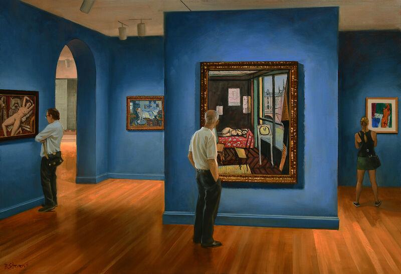 Bradley Stevens, 'The Blue Room', 2021, Painting, Oil on panel, Zenith Gallery
