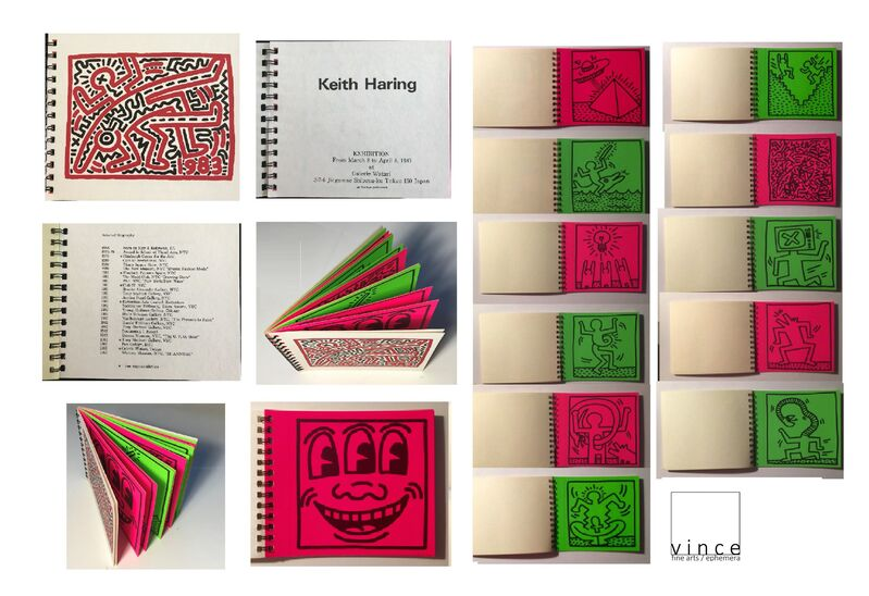 "Keith Haring, '""Keith Haring"", 12-STICKER Exhibition Catalogue, Watari Gallery Japan, EDITION of 1000', 1983, Print, Silkscreened Stickers, VINCE fine arts/ephemera"