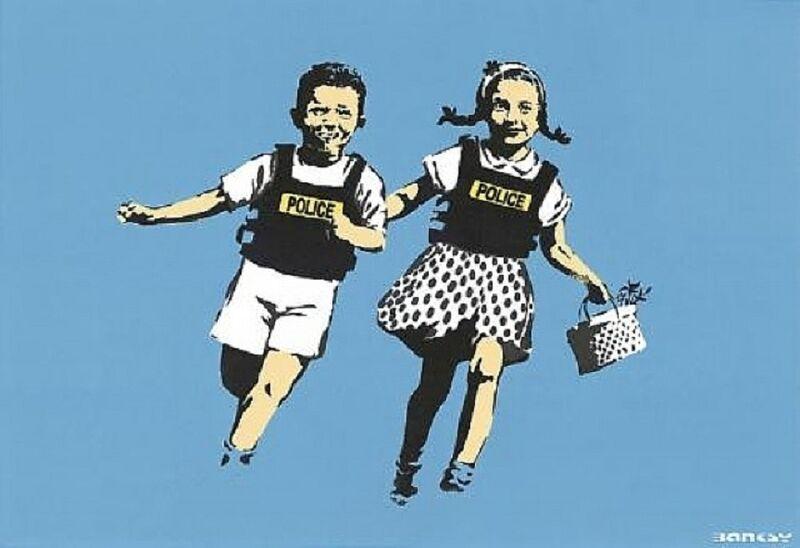 Banksy, 'Police Kids', 2005, Print, Screenprint on paper, Taglialatella Galleries