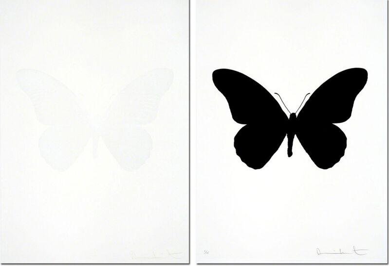 Damien Hirst, 'The Souls IV - Cotton White  + Raven Black (sold as set)', 2010, Print, Three Colour Foil Block Print, Samuel Owen Gallery