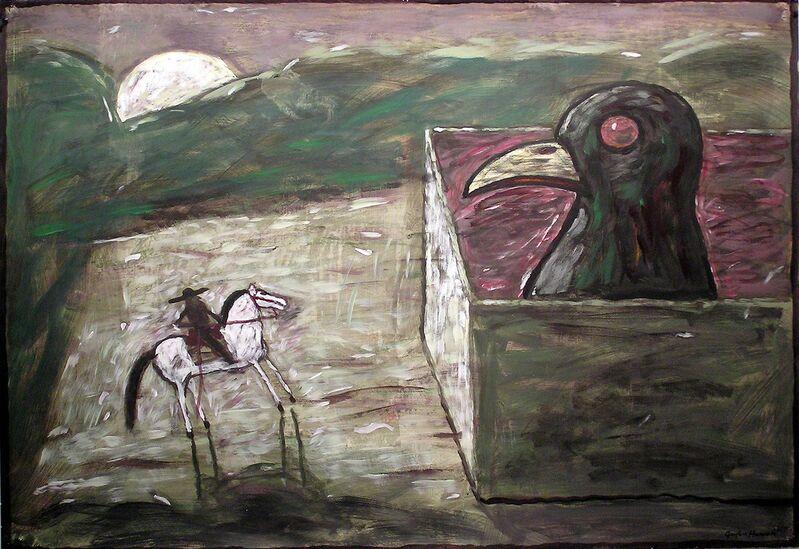 Gaylen Hansen, 'Kernal and Bird', 2002, Painting, Acrylic on paper, Linda Hodges Gallery