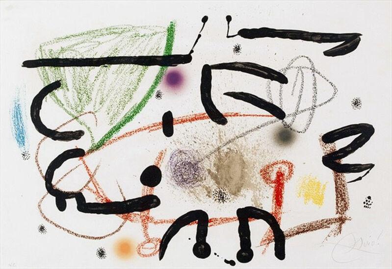 Joan Miró, 'Maravillas con Variaciones Acrósticas en El Jardín de Miró (Wonders with Aristocratic Variations in Mirós Garden), Plate 17', 1975, Print, Color Lithograph on Arches paper, Masterworks Fine Art