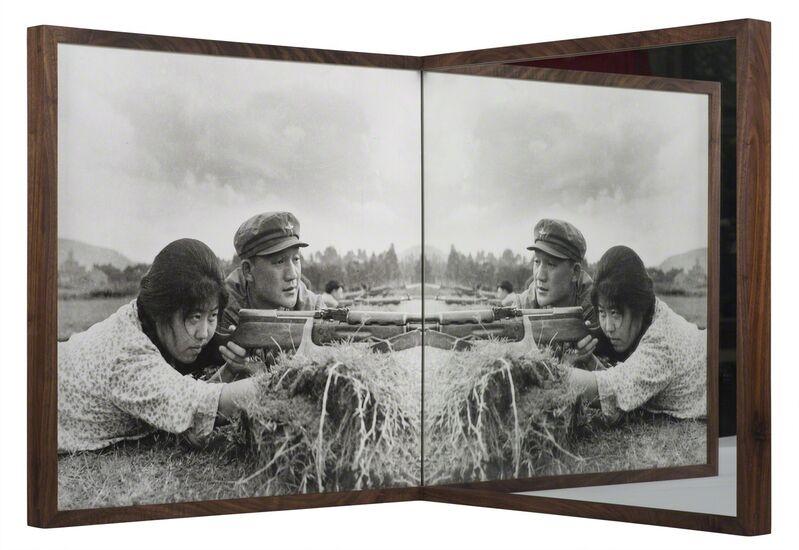 Cai Dongdong, 'Practice Shooting', 2015, Photography, Silver gelatin print, mirror, Galería RGR