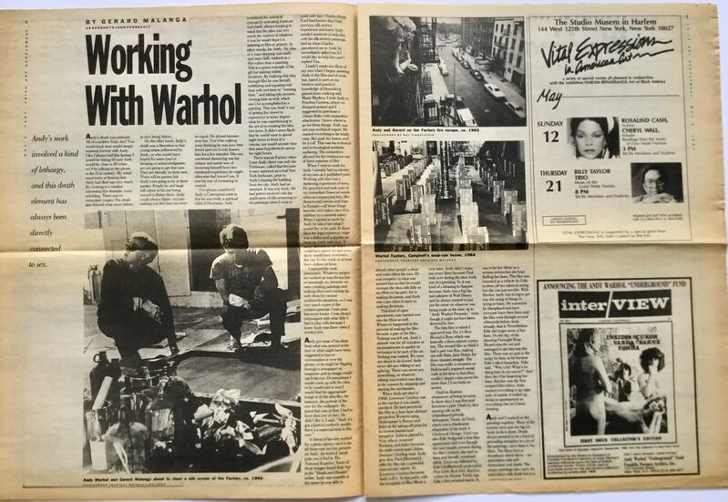 Andy Warhol, 'Andy Warhol The Village Voice 1987', 1987, Ephemera or Merchandise, Newspaper, Lot 180