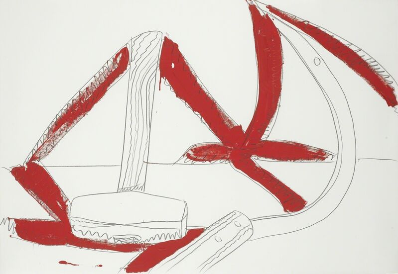 Andy Warhol, 'Still-Life (Hammer & Sickle)', 1977, Drawing, Collage or other Work on Paper, Graphite and wash on J. Green paper, Sotheby's