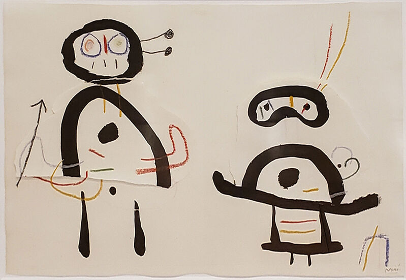 Joan Miró, 'Dessin pour Ubu Roi', ca. 1953, Painting, Brush and India ink, colored wax crayons and paper collage on paper, Jonathan Novak Contemporary Art