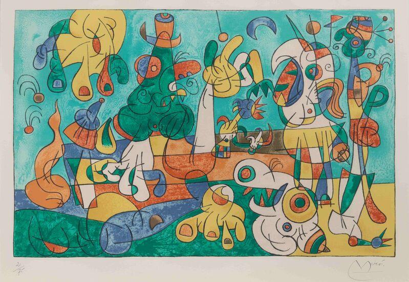 Joan Miró, 'Ubu Roi, Plate II', 1966, Print, Color lithograph, Hindman