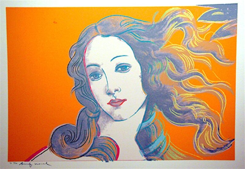 Andy Warhol, 'Details of Renaissance Paintings, Sandra Botticelli Birth of Venus, 1482', 1984, Print, Unique silkscreen on Aquarelle Cold Pressed Paper, Woodward Gallery