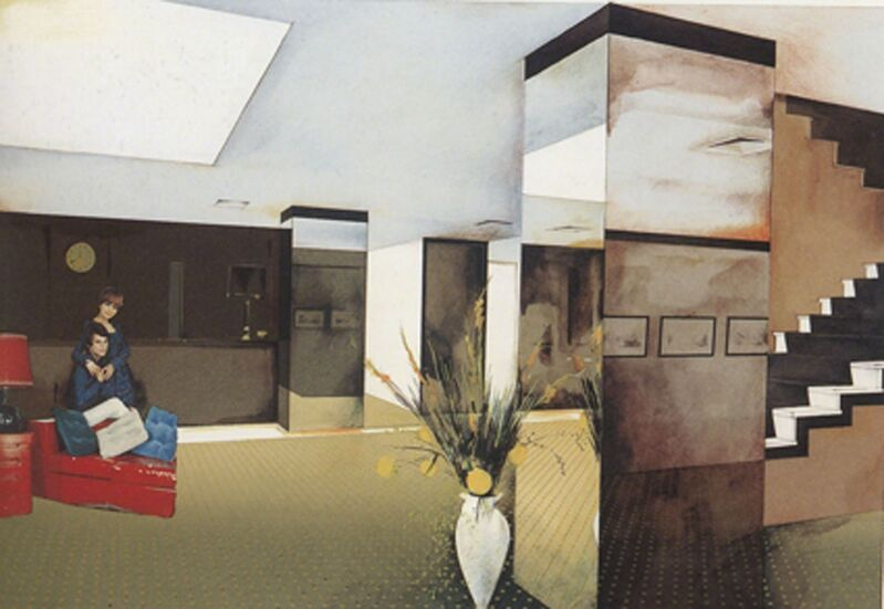Richard Hamilton, 'Lobby', 1984, Print, Collotype in 6 colours and screenprint from 18 stencils in 25 colours on Ivorex paper, Cristea Roberts Gallery