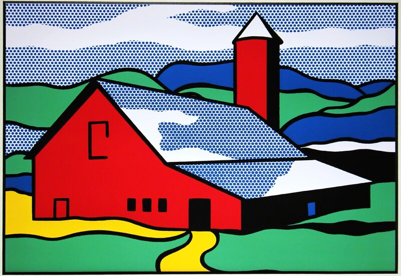 Roy Lichtenstein, 'Red Barn', 1987, Print, Color offset lithograph, mounted and unframed, EHC Fine Art