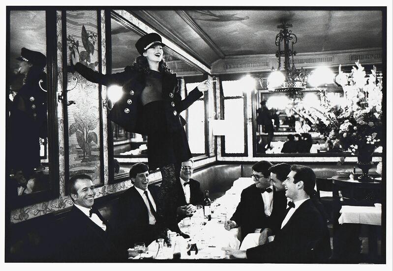 Arthur Elgort, 'Kate Moss, Cafe Lipp, Paris, VOGUE Italia', 1993, Photography, Gelatin Silver Print, Staley-Wise Gallery