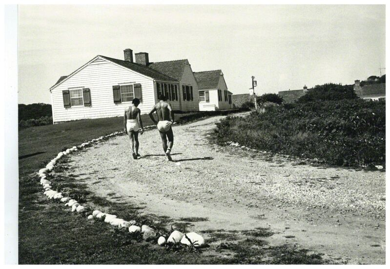 Andy Warhol, 'Andy Warhol's Montauk Estate with Two Unidentified Men', ca. 1975, Photography, Silver Gelatin Print, Hedges Projects