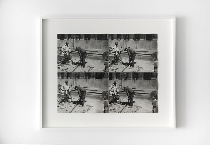Andy Warhol, 'Construction Workers', c. 1980, Photography, Four Stitched Gelatin Silver Prints, Hedges Projects