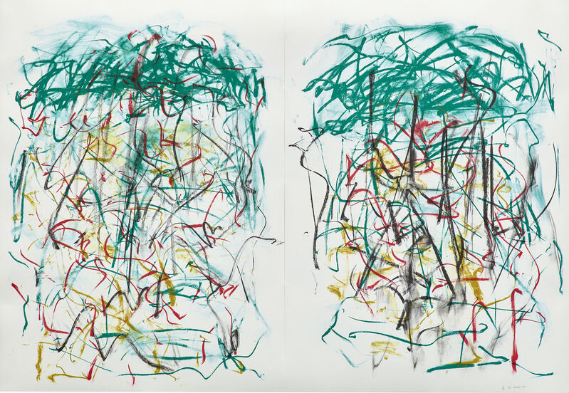 Joan Mitchell, 'Sunflowers I', 1992, Print, Monumental lithograph in colors, on two sheets of Rives BFK paper (as issued), the full sheets., Phillips