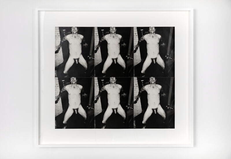 Andy Warhol, 'Male Nude', c. 1977, Photography, Six Stitched Gelatin Silver Prints, Hedges Projects