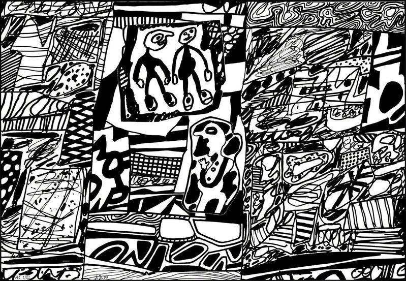 Jean Dubuffet, 'Site de Memoire III', 1979, Print, Silkscreen on canvas, Pace Prints
