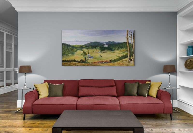 Terrill Welch, 'Glenwood Farm Lookout', 2021, Painting, Walnut oil on canvas, Terrill Welch Gallery