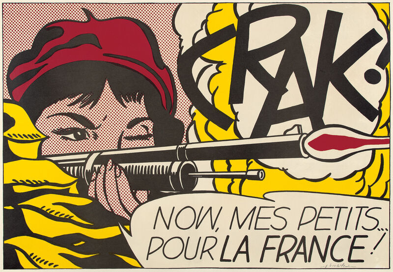 Roy Lichtenstein, 'CRAK!', 1964, Print, Offset lithograph in colors, on wove paper, with full margins., Phillips