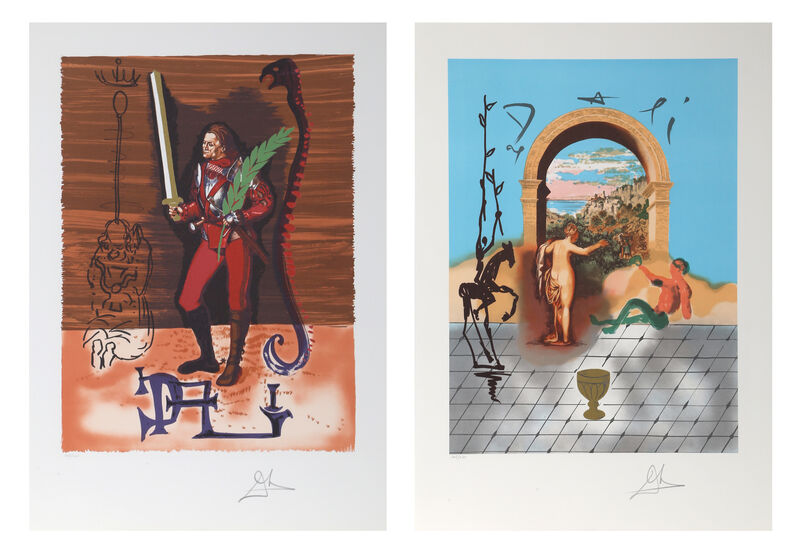 Salvador Dalí, 'Gateway to the New World & Christopher Columbus from the Dali Discovers America Portfolio', 1979, Print, Lithograph on Arches paper, RoGallery Gallery Auction