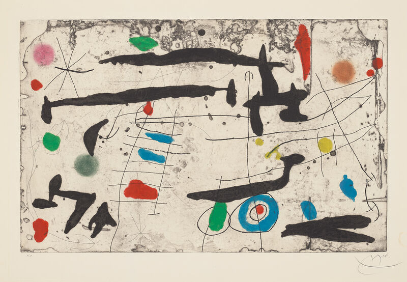 Joan Miró, 'Tracé sur la paroi II (Drawn on the Wall II)', 1967, Print, Etching and aquatint with carborundum in colours, on Mandeure rag paper, with full margins., Phillips