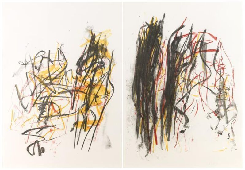 Joan Mitchell, 'Trees I', 1992, Print, Lithograph printed on two sheets of Rives BFK paper, Upsilon Gallery