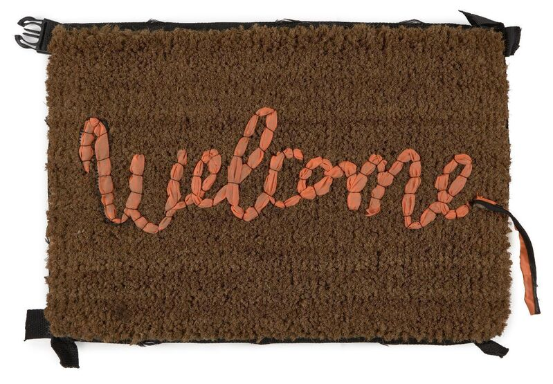 Banksy, 'Welcome Mat', 2020, Ephemera or Merchandise, Hand-stitched mat in fabric repurposed from life vests abandoned on Mediterranean beaches, Roseberys