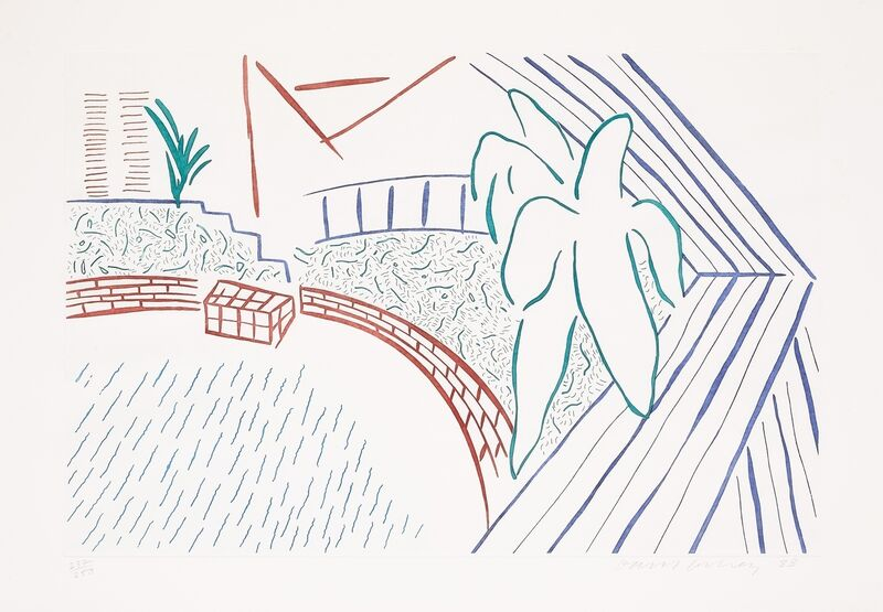 David Hockney, 'My Pool and Terrace', 1983, Print, Lithograph printed in colours, Forum Auctions