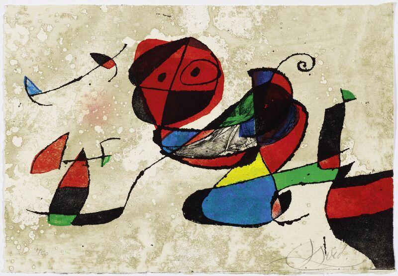 Joan Miró, 'Gaudí XIII', 1979, Print, Colour etching, Koller Auctions