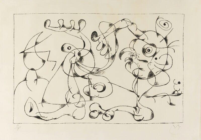 Joan Miró, 'Ubu Roi. Le Nobles a la Tràppe (Mourlot 410)', 1966, Print, Lithograph, Forum Auctions