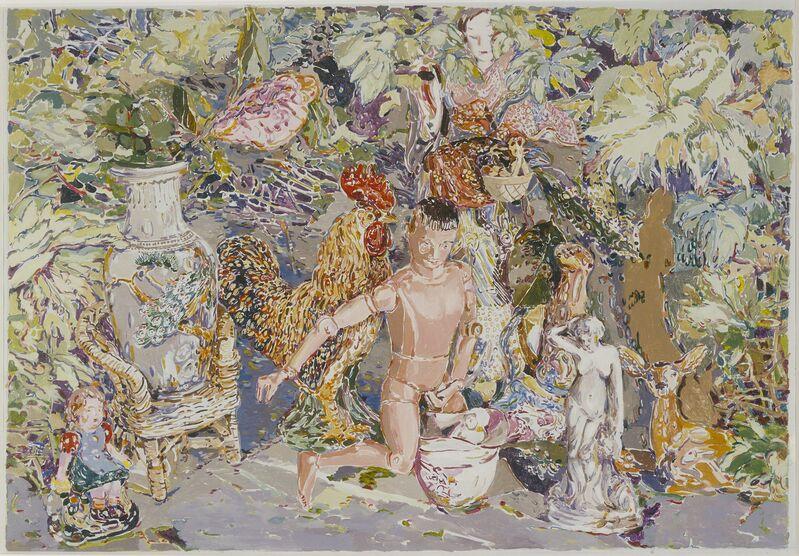 Viola Frey, 'China Goddess Painting', 1975, Painting, Acrylic on canvas, Artists' Legacy Foundation