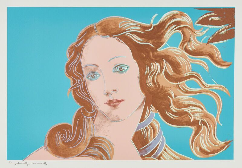 Andy Warhol, 'Details of a Renaissance Painting (Sandro Boticelli Birth of Venus 1482)', 1984, Print, Screenprint in colors, on Arches Aquarelle paper, with full margins., Phillips