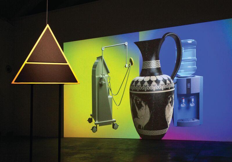 David Ferrando Giraut, 'Discursive Prosthesis (An Alchemical Conversation)', 2014, Installation, Digital animation and sculpture quadraphonic sound speakers., Galería Bacelos