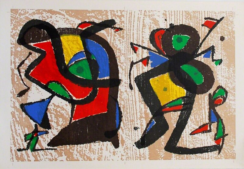 Joan Miró, 'untitled', 1983, Print, Two color woodcuts printed on the same sheet, Sylvan Cole Gallery