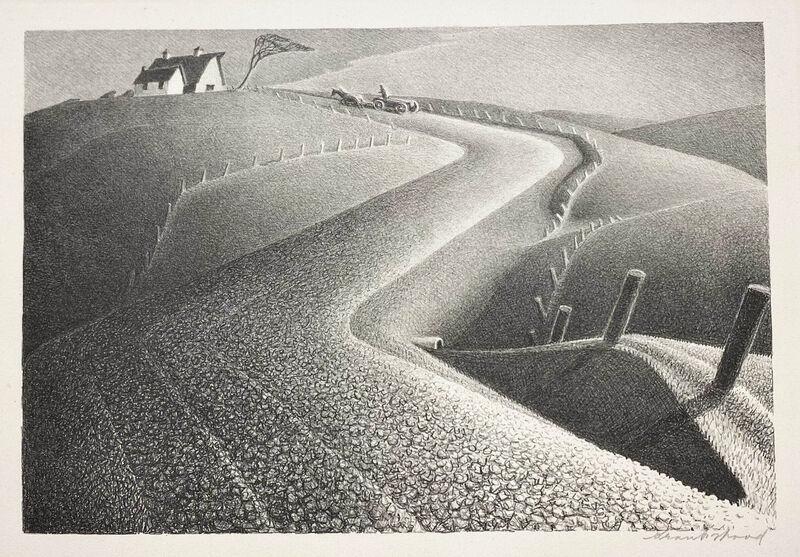Grant Wood, 'March', 1939, Print, Lithograph, Kiechel Fine Art