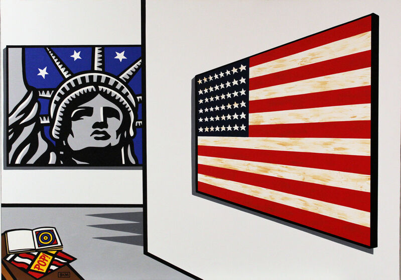 Burton Morris, 'Jasper Johns / Burton Morris Museum', 2010, Painting, Acrylic on Canvas, Taglialatella Galleries